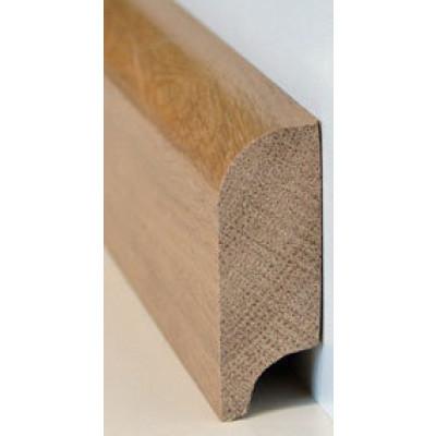 Basic Massivholzsockelleiste Kiefer 20/60 (gerade, oben gerundet) lackiert - 20x60x2000-3000 mm