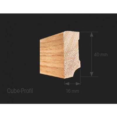 Oakland Edelfunierleiste Cube weiß 16/40 foliert