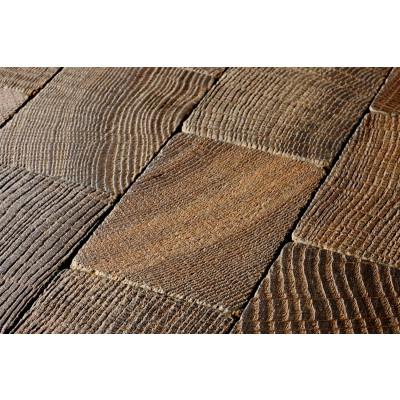 Holzpflaster Design Eiche gealtert - Detailbild in geölter Oberfläche