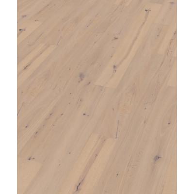 Oakland Landhausdiele Eiche rustic scrubbed white mat lacquered Verlegebild
