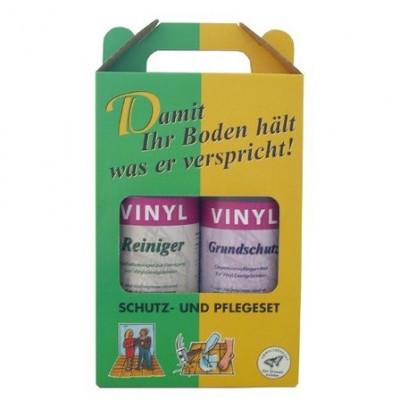 Pflegebox für Premium Vinylböden Grundschutz + Reiniger zur Unerhaltspflege - Box mit 2 Flaschen á 1 L