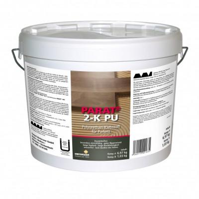 Prime Parkettkleber 2-K PU EC 1 lösemittelfrei inkl. Handschuhe / Komp. A + B = 10 kg - Verbrauch: ca. 1,0 - 1,5 kg/qm