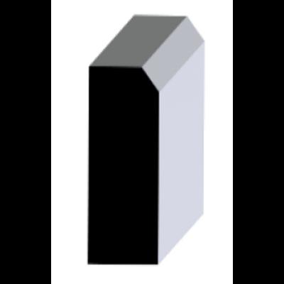 Basic Massivholz-Sockelleiste Eiche 20/40 (gerade/oben angefast) roh