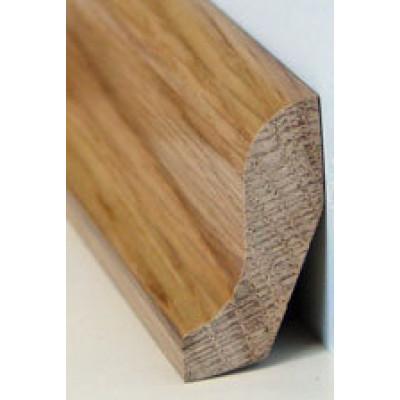 Basic Massivholzsockelleiste Eiche 24/42 (geschwungen) geölt - 24x42x2000-3000 mm