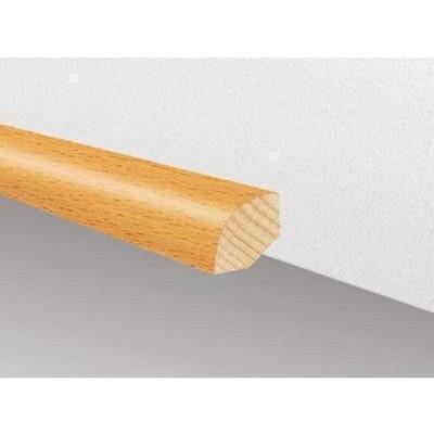 Massivholzleiste SL 103 - Ayous weiß lackiert (Raminersatz) / 14 x 14 x 2700 mm (Viertelstab)
