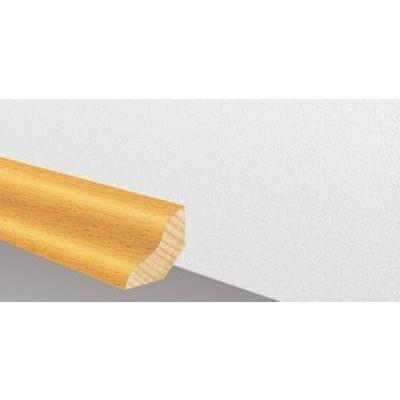 Massivholzleiste SL 500 - Buche unged. lackiert / 22 x 25 mm x 2500 mm