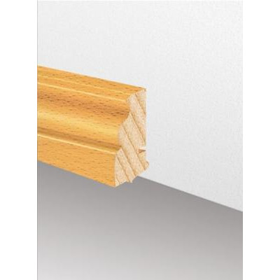 Massivholzleiste SL 620 - Eiche lackiert (Altberliner Profil) / 22 x 58 x 2700 mm