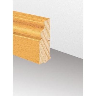 Massivholzleiste SL 621 - Fichte astig lackiert (Altberliner Profil) / 22 x 78 x 2500 mm
