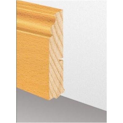 Massivholzleiste SL 622 - Eiche lackiert (Altberliner Profil) / 22 x 120 x 2700 mm