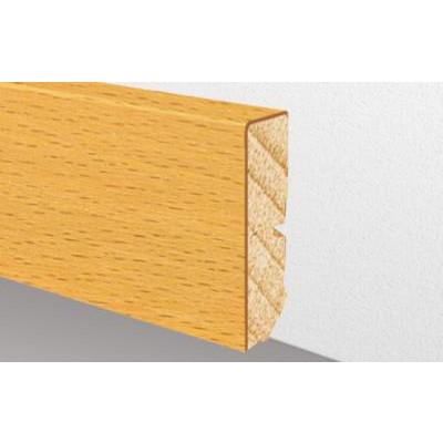 Edelfurnierholzleiste LeipzigFloor Eiche weiß lackiert / 16 x 58 x 2400 mm