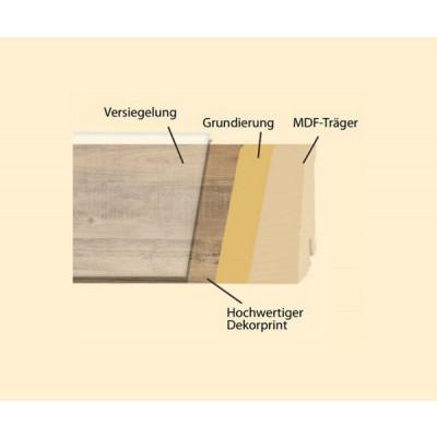 Classic Line Dekorleisten für VinylFloor, Linocolor & Printkork / 20x58x2500 mm