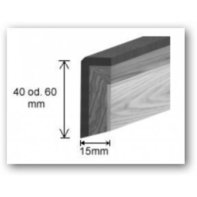Hain Exklusiv-Sockelleiste Eiche used look aus Original Hain Parkettboden / 15 x 60 mm - fallende Längen
