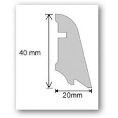 Hain Furnierholzleiste Kirsche geölt / 20x40x2400mm