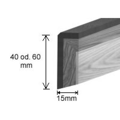 Hain Massive Sockelleiste in Hain Bodenoptik - Oberfläche Eiche angeräuchert geölt / 16 x 60 x 2400mm