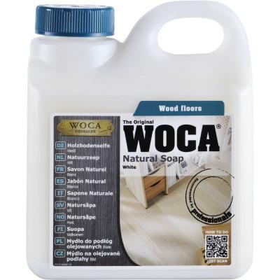 WOCA Holzbodenseife weiß für die fachgerechte Pflege von Trendfloor Böden  - 320-400 qm pro Liter / 2,5 Liter