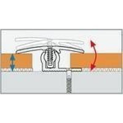 Übergangsprofil Bodenbeläge 7-18 mm / 1,00m / eloxiert gold