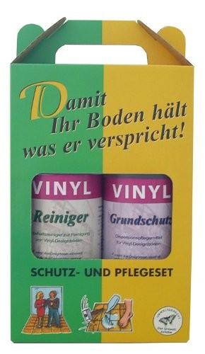 vinyl pflegeset grundschutz reiniger f r alle premium vinylfloor b den je 1 liter deutsch. Black Bedroom Furniture Sets. Home Design Ideas