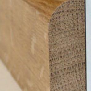 Basic Massivholzsockelleiste weiß lackiert 16/60