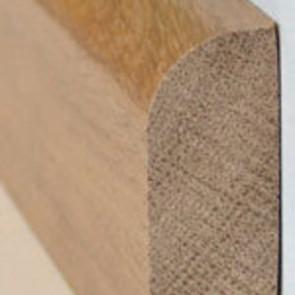 Basic Massivholzsockelleiste Kiefer 20/60 (gerade, oben gerundet) roh - 20x60x2000-3000 mm