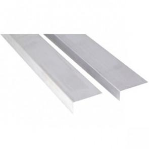 Basic Aluminium Abschlusswinkel für WPC-Terrassendielen eloxiert - 23x55x3000 mm