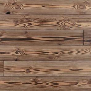 Massivholzdiele für Wandverkleidung Kiefer stark gebürstet geflammt oxidativ geölt N/F - 20x137x1973 mm Detailbild