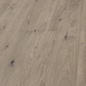 Hain 3-Schicht-Landhausdiele Viale Eiche vario gebürstet perlgrau geölt Detailbild