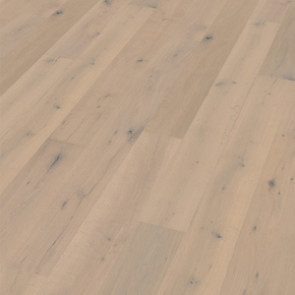 Oakland Landhausdiele Eiche rustic scrubbed smoked white mat lacquered Verlegebild