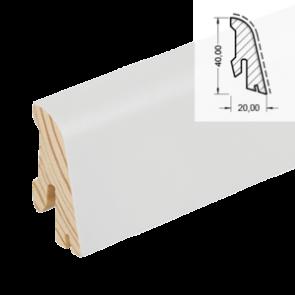 Sockelleiste Modern SL 554 weiß