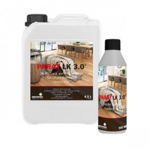 Prime 2K PU-Lack LK 3.0 für Parkett-Oberflächen (Objektbereich) matt Glanzgrad 20 - Lack + Härter 4,95 L