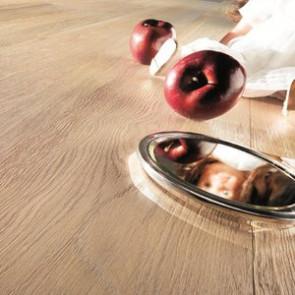 Hain 3-Schicht Landhausdiele Ambiente Eiche perfekt gebürstet weiss geölt Detailbild