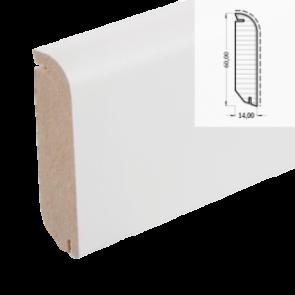 MDF-Sockelleiste Classic 605 weiß