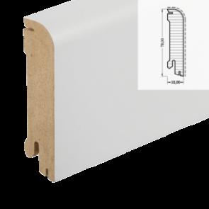 MDF-Sockelleiste Classic 606 weiß