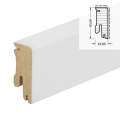 Sockelleiste CUBE 630 weiß UM RAL 9010 - 16x40x2200 mm ...