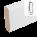 MDF-Sockelleiste Classic SL 605 - weiß foliert RAL 9010 / 14 x 60 x 2700 mm ...