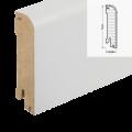 MDF-Sockelleiste Classic SL 606 - weiß foliert RAL 9010 / 18 x 78 x 2700 mm ...