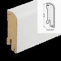 MDF-Sockelleiste Classic SL 609 - weiß foliert RAL 9010 / 18 x 58 x 2700 mm ...