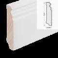MDF-Sockelleiste 625 (Altberliner Profil) - weiß foliert RAL 9010 / 18 x 78 x  ...